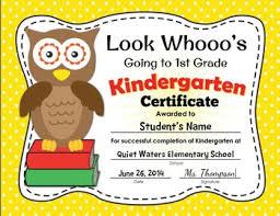 Kindergarten Promotion Certificate And Invitation Cute Owl Award