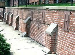 block wall repairs concrete block wall repair concrete wall repairs rusted wall plate anchors in a