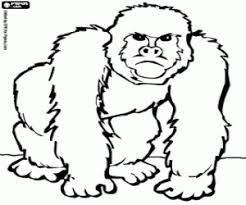 Kleurplaat Gorilla Met Woede Gezicht Kleurplaten