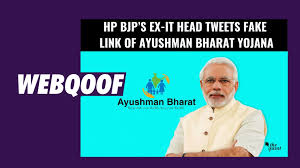 Ayushman Bharat Yojana Viral Post Fact Check Hp Bjp Ex It Head