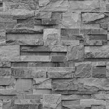Muriva Bluff Slate Stone Brick Effect ...