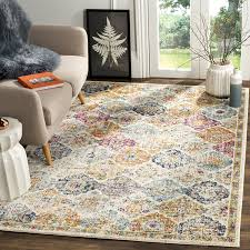 Safavieh Madison Collection MAD611B Bohemian Vintage Cream and Multi Area  Rug (8' x 10