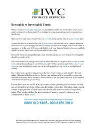 Trust Amendment Form Revocable Vs Irrevocable Trusts DocSharetips 18