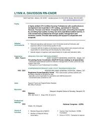 Examples Of Nurse Resume Rn Resumes Free Registered Templates