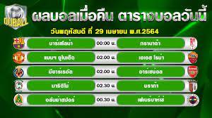 ผลบอลเมื่อคืน โปรแกรมบอลคืนนี้ ยูโรป้า ลีก ลาลีกา สเปนและโปรตุเกส  ซุปเปอร์ลีก |29/04/2021l | เว็บไซต์นำเสนอ ข้อมูลเกี่ยวกับกีฬา - POPASIA -  เนื้อเพลง, คอร์ดเพลงใหม่ๆ | #1 ประเทศไทย