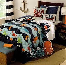 Toddler Bedding Cotton 2pc Twin Quilt Set Reversible Nautical