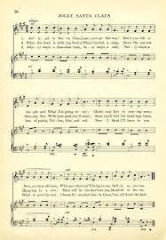 Santa Claus Printable Jolly Free Vintage Sheet Music Envelopes