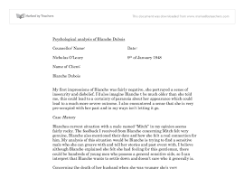blanche dubois a level english marked by teachers com document image preview