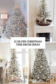 silver christmas tree decor ideas cover