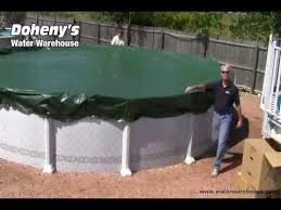 Installing Your Winter Swimming Pool Cover - YouTube