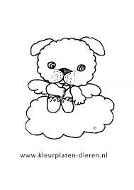 Klein Hondje Op De Wolk Kleurplaat Hond Kleurplaten