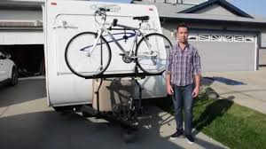 Bike Camper Trailer Arvika Rv Bike Rack Travel Trailer Installation Demo By Racks