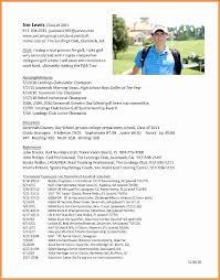 College Golf Resume Template Classy College Golf Resume Sample Impressive Gallery Resume Ideas College
