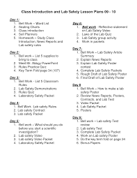 science lab safety activity rules and lab safety lesson plans