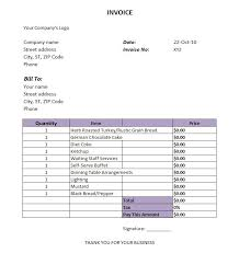 Catering Invoice Example Best Photos Of Catering Invoice Template Excel Free