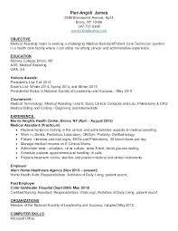 Medical Assistant Resume Objective Best Objectives For Medical Assistant Resume Objective For Medical