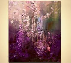 modern purple abstract painting palette knife art by osnatfineart