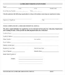 Sample Employment Verification Letter For Apartment Landlord