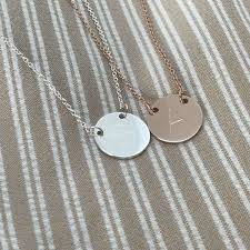 rose gold suspended disc necklace