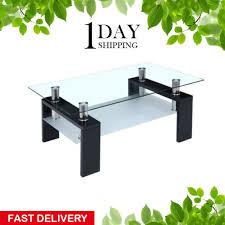 small coffee table with storage shelf