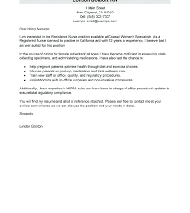 Rn New Grad Cover Letter Nursing Student Example With Resume ...
