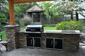 stone bbq plans stone barbecue fireplace the highlight in the garden