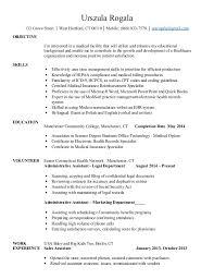 Resume Sample Receptionist