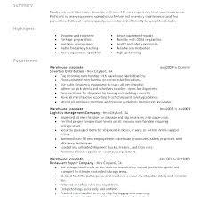 Sample Warehouse Management Resume Resume For Warehouse Manager Of Resume Warehouse Management Resume