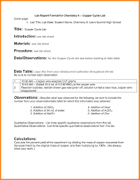 Copper Cycle Lab Report Ib Lab Report Template High Quality Templates