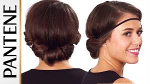Headband Hair Style headband roll and tuck updo easy hairstyles for short hair youtube 4451 by wearticles.com