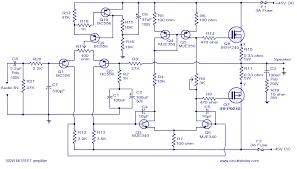 100w mosfet power amplifier circuit using irfp240 irfp9240 mosfet power amplifier