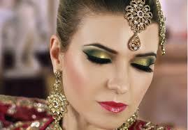 bridal eye makeup 2017 luxury gold and green smokey eye bridal makeup tutorial asian indian