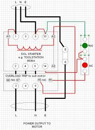 dol starter circuit diagram motor images best ideas about single phase dol starter wiring diagram contactor relay on