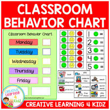 Classroom Behavior Chart Autism Worksheets Teaching