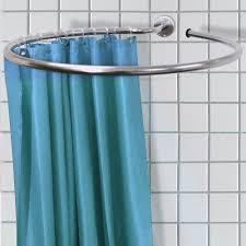 round corner shower curtain rod