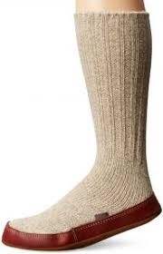Acorn Unisex Slipper Sock Light Gray Ragg Wool S