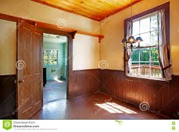 Yellow And Brown Kitchen Antique Kitchen Room Interior With Yellow Walls And Brown Plank