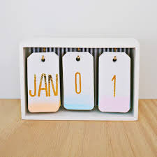 diy desk decor ombre desk calendar
