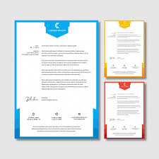 Letterhead Stationary Letterhead Stationery Template Set Vector Premium Download