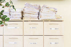 messy file cabinet. Filing Cabinet And A Stack Of Old Papers Stock Image Messy File