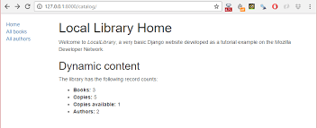 Django Tutorial Part 5: Creating our home page - Learn web ...