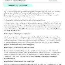 Executive Summary Template For Proposal Barrest Info