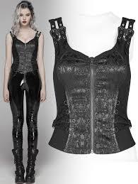 Poison Ivy black corset top WY-1037-BK   Fantasmagoria.shop - retail &  wholesale Gothic clothes and accessories