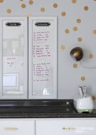 Framed Dry Erase Board Framed Dry Erase Boards From Cabinet Doors The Homes I Have Made