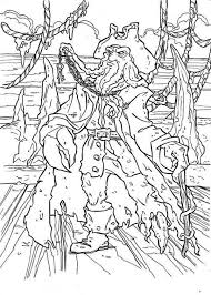 Small Picture Captain Davy Jones in Pirates of the Caribbean Colouring Page