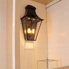 Buitenverlichting Wand Landelijk Brons Glas 4 Lampen Feluce