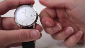 How To Set The Time And Date On Your Automatic Watch - YouTube
