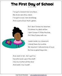 best first day at school ideas about me first day of school poem