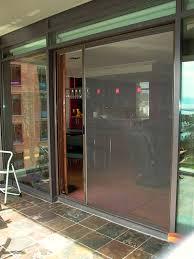 image of sliding screen door photo