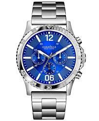 caravelle new york by bulova men s chronograph stainless steel caravelle new york by bulova men s chronograph stainless steel bracelet watch 44mm 43a116